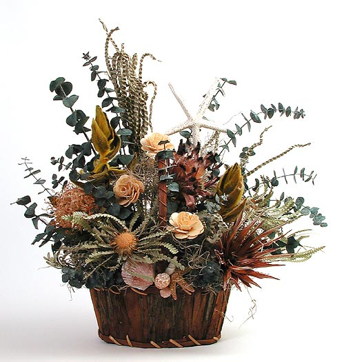 Tropical Dried Basket Arrangement
