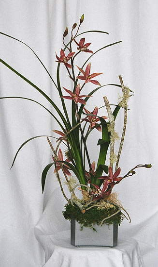 Maui dried flowers silk arrangements tropical silk flower arrangement in bamboo mightylinksfo